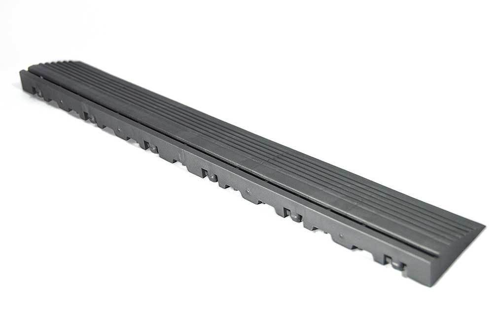 Swisstrax Pro Slate Grey Pegged Edge Piece (10 pack) (C504.031.200-10pk)