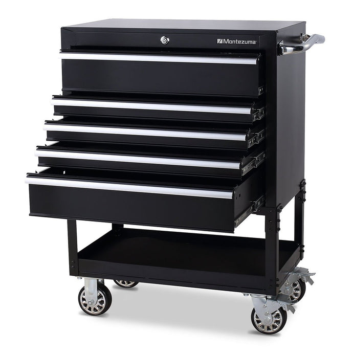 MONTEZUMA 30 In. 5-Drawer Utility Cart