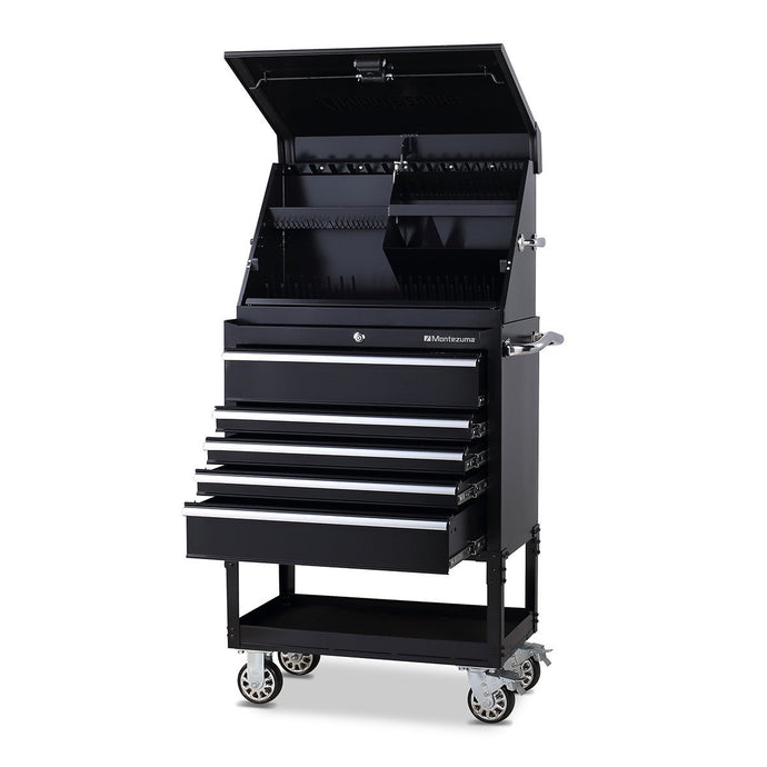 MONTEZUMA 30 X 15 In. Steel Triangle® Toolbox And 30 In. 5-Drawer Utility Cart Combo