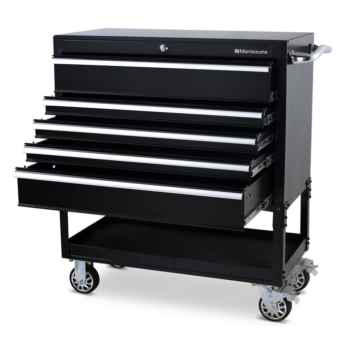 MONTEZUMA 36 In. 5-Drawer Utility Cart