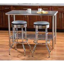"Load image into Gallery viewer, TRINITY 30"" Swivel Stool Chrome (Assembled 2-Pack)"