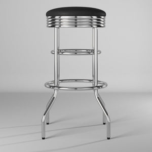"TRINITY 30"" Swivel Stool Chrome (Assembled 2-Pack)"
