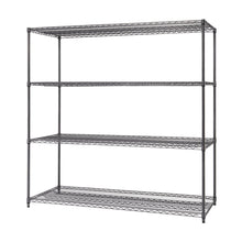 Load image into Gallery viewer, TRINITY PRO 4-Tier 72x30x72 Wire Shelving Black Anthracite®