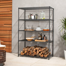 Load image into Gallery viewer, TRINITY PRO 5-Tier 48x24x72 Wire Shelving Black Anthracite®
