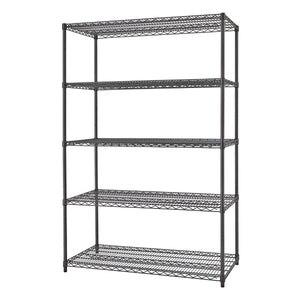 TRINITY PRO 5-Tier 48x24x72 Wire Shelving Black Anthracite®