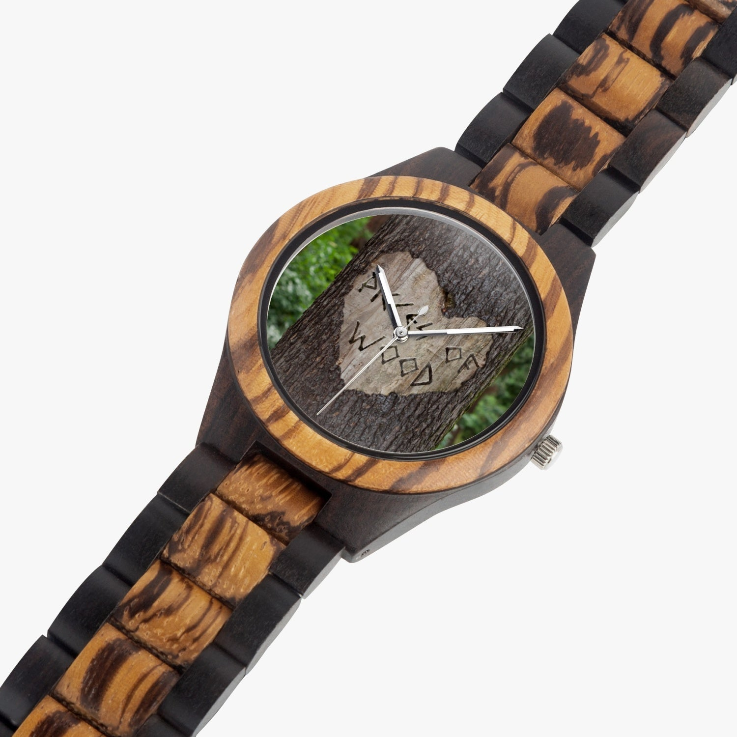 Pieces of Wood Branded Watch made from Italian Olive Lumber - for Men/Women