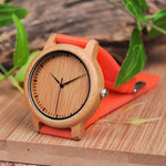 Load image into Gallery viewer, Silicone Band Bamboo Face Wood Watch for Women