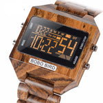 Load image into Gallery viewer, Multi-Function Wooden Digital Watch For Men with Wooden Box