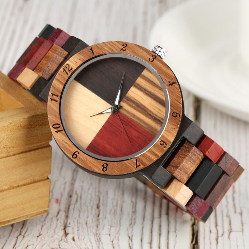 Men's Watch With Unique Mixed Color Splice Dial