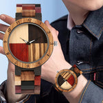 Load image into Gallery viewer, Men's Watch With Unique Mixed Color Splice Dial