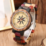 Load image into Gallery viewer, Luxury Wood Watch with Unique Compass Dial for Men, Women or Couples