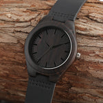 Load image into Gallery viewer, Unique Full Black Men's Ebony Wood Watch