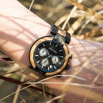 Load image into Gallery viewer, Handmade Wooden Watch for Men with Japan Movement Quartz