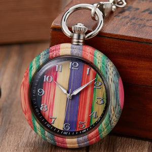 Natural Wood Pocket Watch for Men or Women - Pieces of Wood