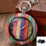 Load image into Gallery viewer, Natural Wood Pocket Watch for Men or Women - Pieces of Wood