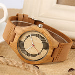 Load image into Gallery viewer, Eco-Friendly Bamboo Watch for Men with Creative Round Design