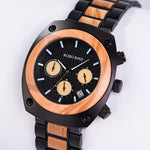 Load image into Gallery viewer, Handmade Wooden Watch for Men with Stopwatch - Pieces of Wood