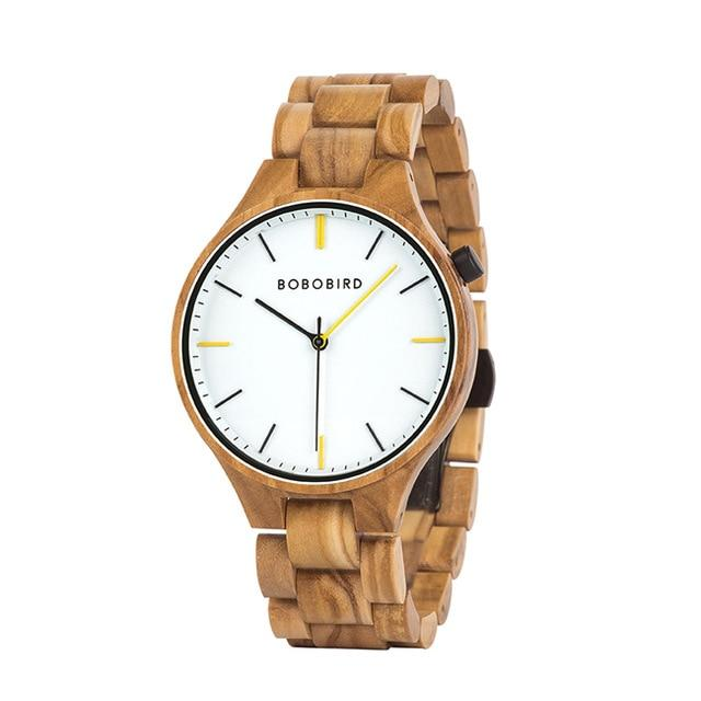 BOBO BIRD Wooden Watch for Men in Wooden Gift Box - Pieces of Wood