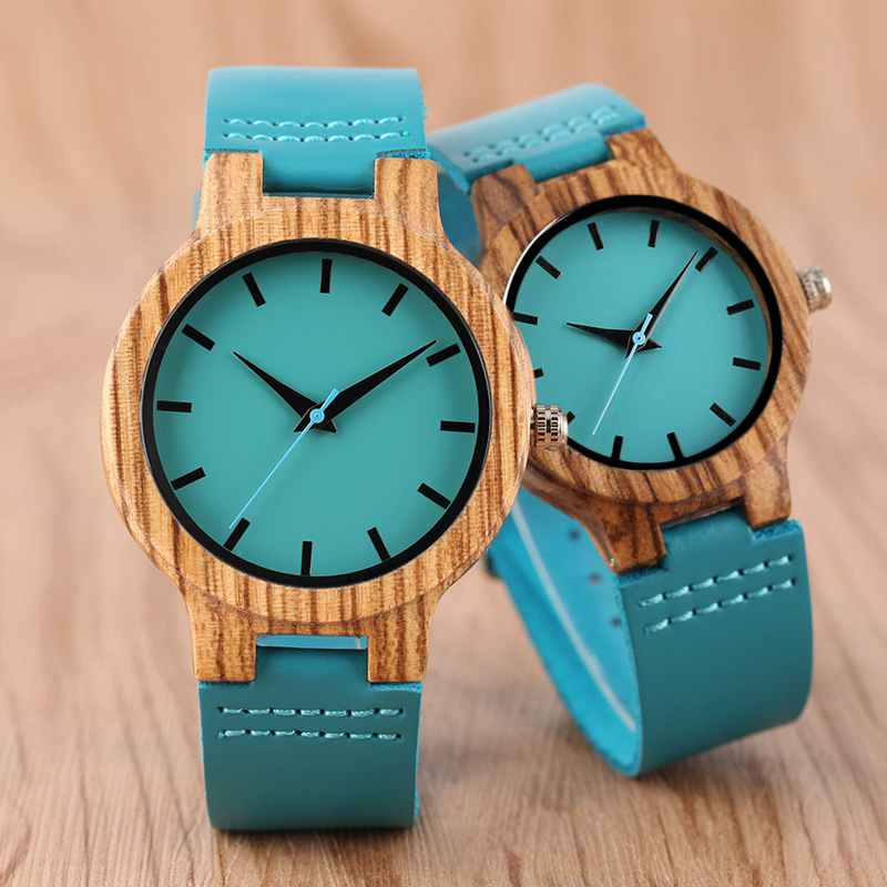 Luxury Royal Blue Wooden Watches for Men/Women/Couples - Pieces of Wood