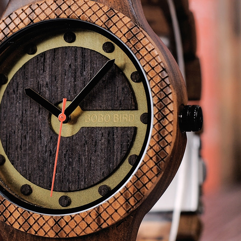 Men's Wooden Watch with New Sports Design in Wooden Box