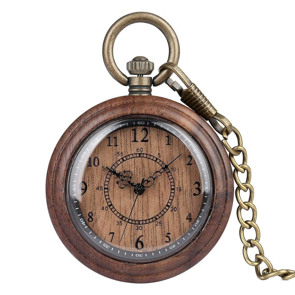 Retro Wooden Case Pocket Watch - Pieces of Wood