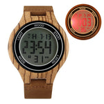 Load image into Gallery viewer, LED Digital Men's Watches, Handmade with Retro Ebony Wood