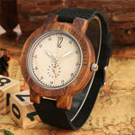 Load image into Gallery viewer, Creative Seconds Small Dial Luminous Pointer Wood Watch for Men