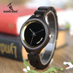Load image into Gallery viewer, BOBO BIRD Wooden Women's Watch at 4 o'clock Slant - Pieces of Wood