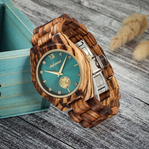 Wooden Watch For Women, Luxury Quartz Wristwatch
