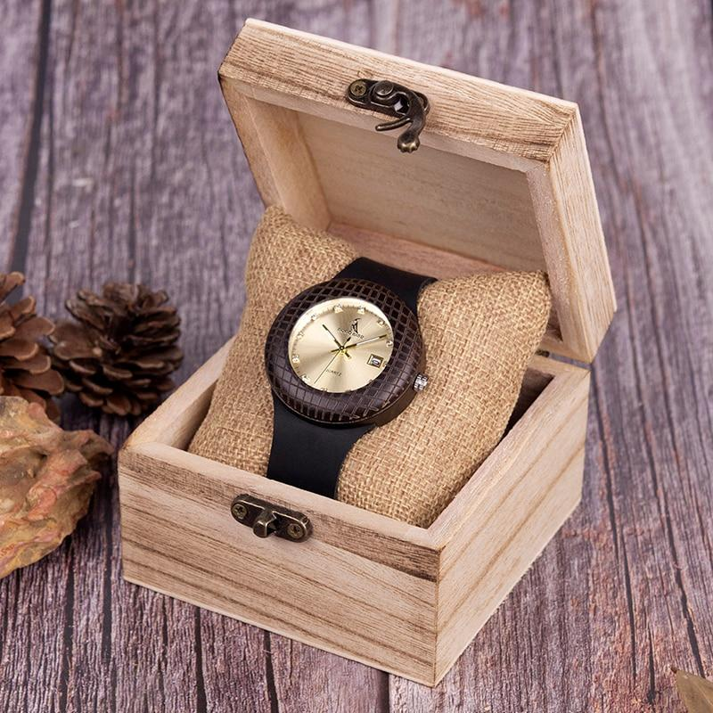 Wooden Quartz Watch for Men or Women in Wooden Box - Pieces of Wood