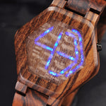 Load image into Gallery viewer, Wooden Digital Watch For Men | LED Night Vision Minimal Time Display - Pieces of Wood