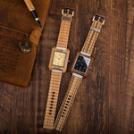 Load image into Gallery viewer, Wooden Watches for Men in Bamboo Gift Box - Pieces of Wood