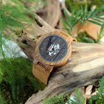 Load image into Gallery viewer, Men's Wooden Watch with Real Leather Band