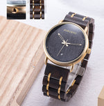 Load image into Gallery viewer, Simple Stylish Date Display Watch for Men with  Wooden Gift Box