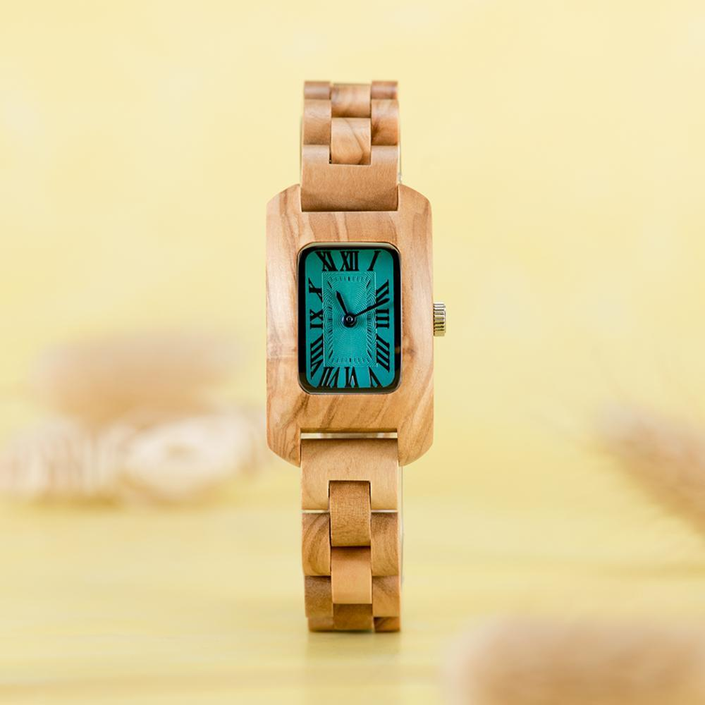 Antique Style Light Wood Luxury Watch for Women - Pieces of Wood