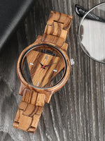 Load image into Gallery viewer, Unique Inverted Geometric Triangle Wood Watch for Men or Women - Pieces of Wood