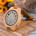 Load image into Gallery viewer, Men's Digital Quartz Wooden Watch With Genuine Leather Band - Pieces of Wood