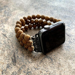 Load image into Gallery viewer, Handmade Natural Retro Wood Beads For Apple Watch Strap - Pieces of Wood
