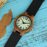 Load image into Gallery viewer, Ultra Light Wooden Men's Watch with Light Green Dial