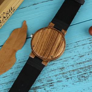 Ultra Light Wooden Men's Watch with Light Green Dial