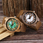 Load image into Gallery viewer, Double Green/White Unique Dial Wrist Watch for Men