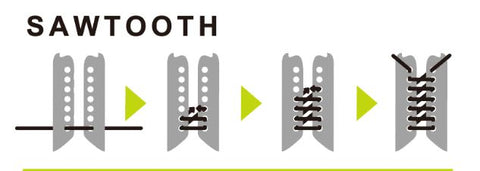 How to no tie shoelaces with sawtooth