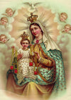 Our Lady of Mt. Carmel Vintage Print 5X7