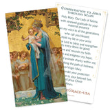 Consecration to Jesus through Mary Holy Card - Gold Version