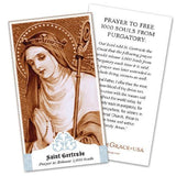 Saint Gertrude the Great Holy Cards