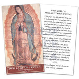 Our Lady of Tepeyac - Prayer of Miraculous Trust Holy Cards
