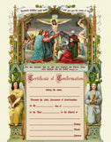 Traditional Confirmation Sacrament Certificate with Crucifixion