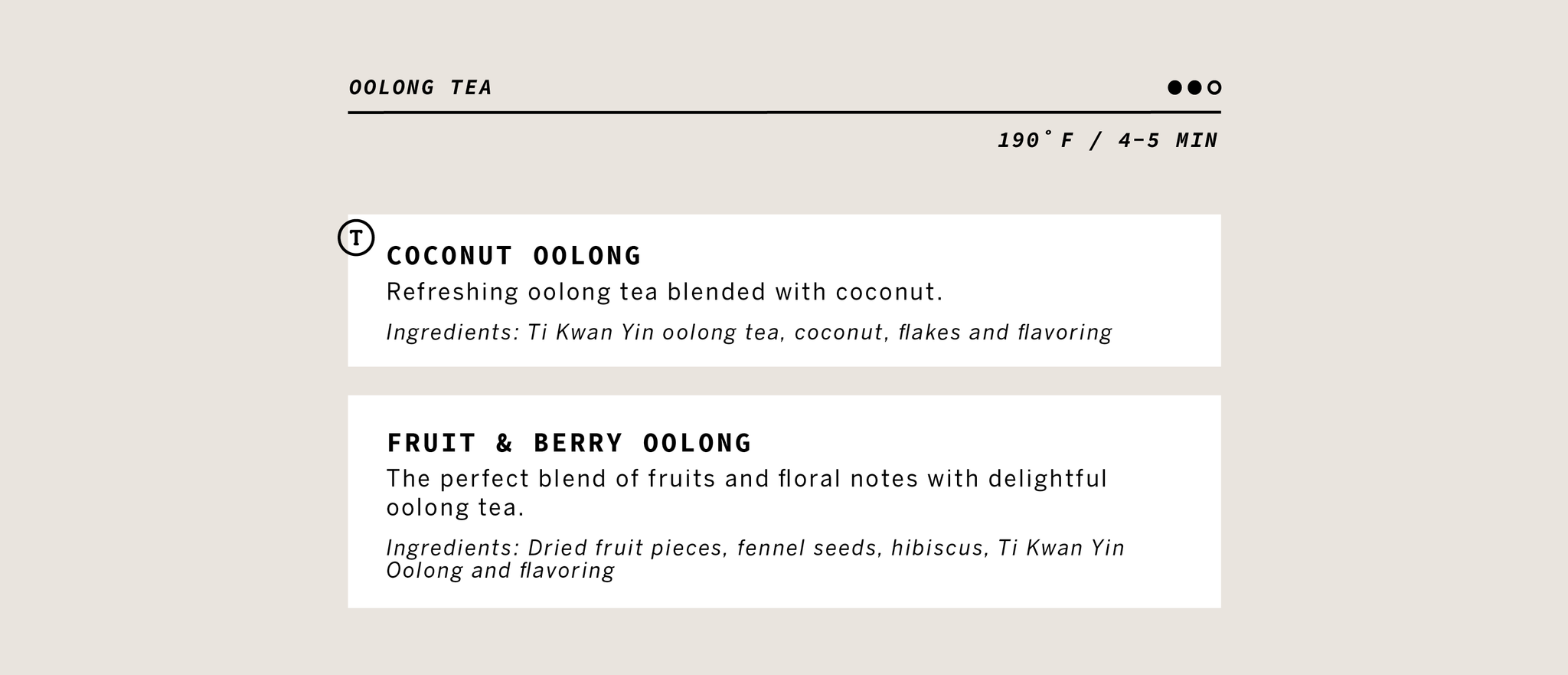 Oolong Tea Information