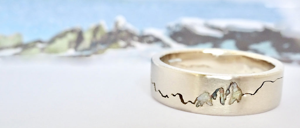 The Summit Mountain Ring was designed and inspired by the incredible accomplishments of climbers and mountaineers.  This bespoke ring is a personal favorite within my ML Mountain Collection.