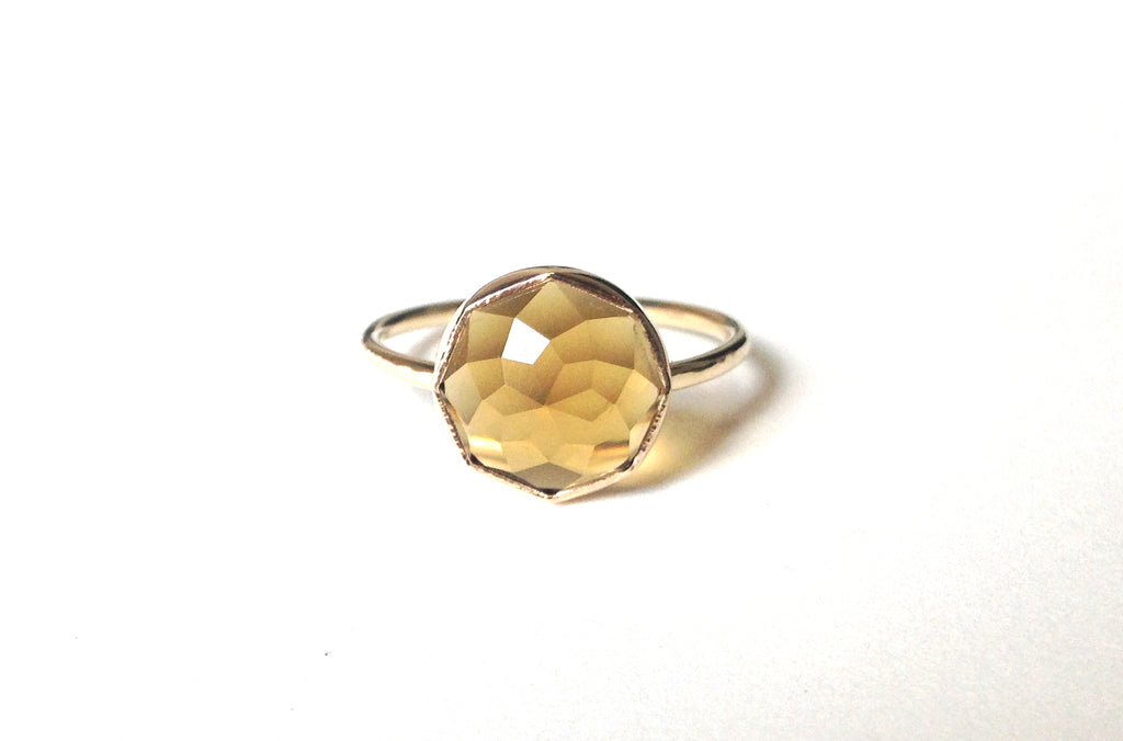 Honey Quartz Stacker Ring